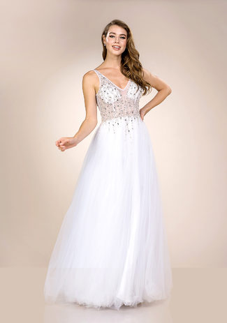 Evening dress made of tulle in Snow White