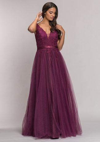 Tüll Abendkleid in Royal Purple