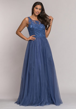 Tulle evening dress in Lavender