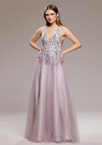Evening dress with embellishment Lavender Snow