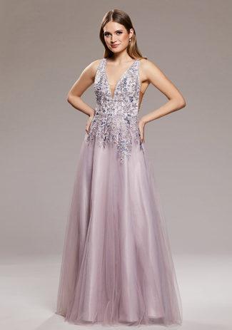 Abendkleid mit Verzierung Lavender Snow