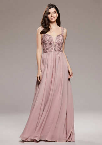 Abendkleid aus Chiffon in Dawn Pink