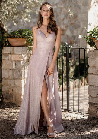 Glitter evening dress in Glitter Pink