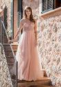 Tüll Abendkleid mit Strassbesatz in Dawn Pink