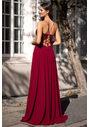 Robe de soirée ornée de broderies en rouge Rio