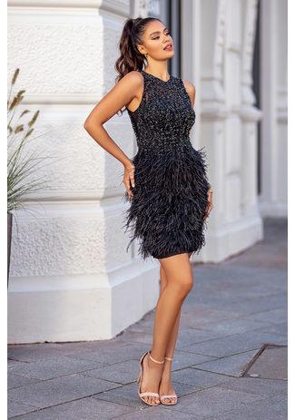 Cocktail dress in Phantom Black