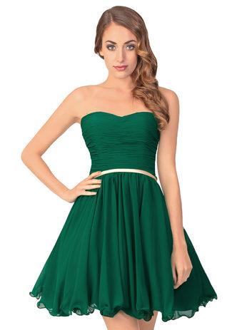 Apartes Cocktaildress aus grünem Chiffon