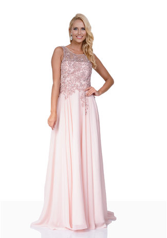 Evening dress made of Chiffon in Pink