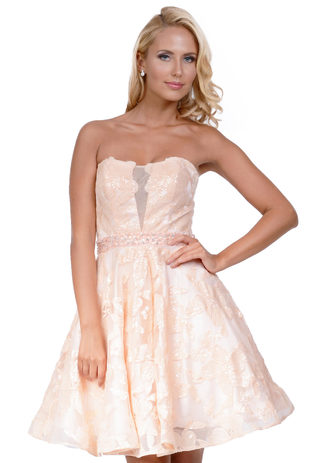 Cocktail dress made of Chiffon in rose
