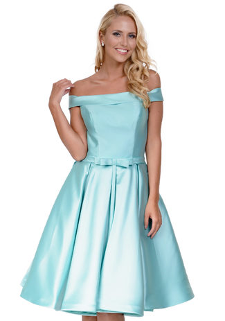 Cocktailkleid aus Mikado in Posy Green