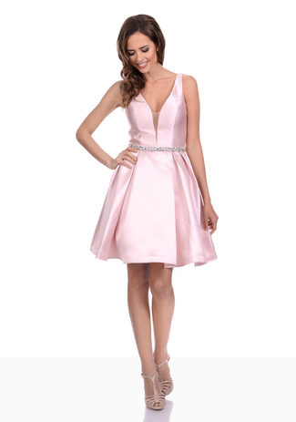 Jersey Abendkleid in Apricot Blush