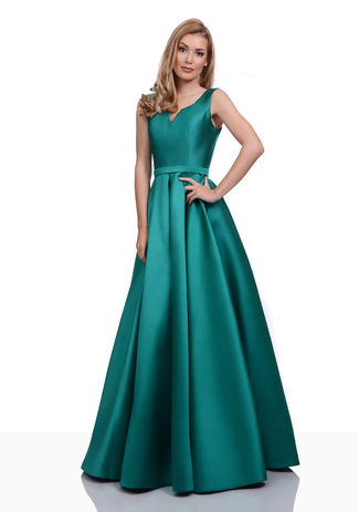 Mikado Abendkleid in Posy Green