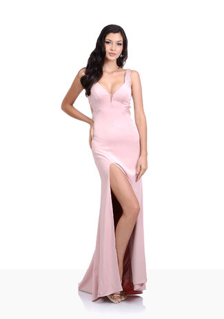 Abendkleid in Pearl Pink