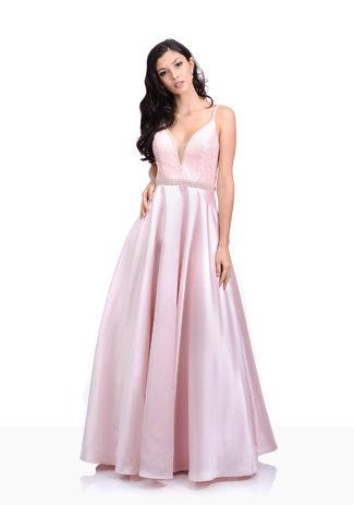 Mikao Vestido de noche en color Rosa Perla