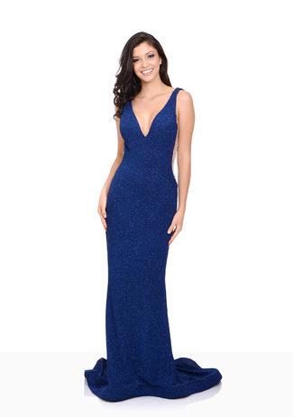 Jersey Abendkleid in Twilight Blue