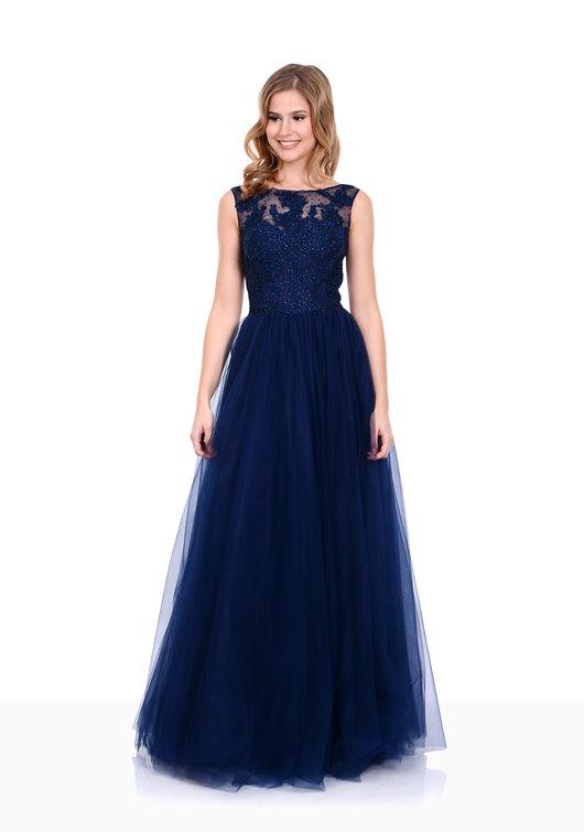 Abendkleid in Twilight Blue
