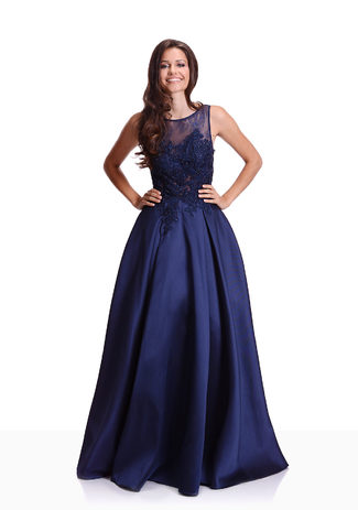 Mikado Abendkleid in Twilight Blue