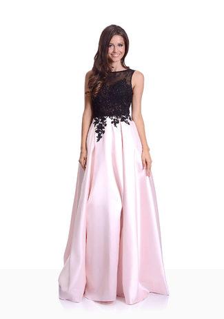 Mikado Abendkleid in Pearl Pink