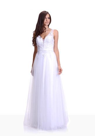 La longitud del piso Vestido de noche / vestido de Novia de Tul en Snow White