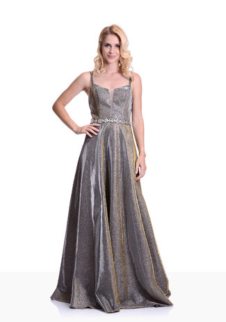 Abendkleid in Silver Gold