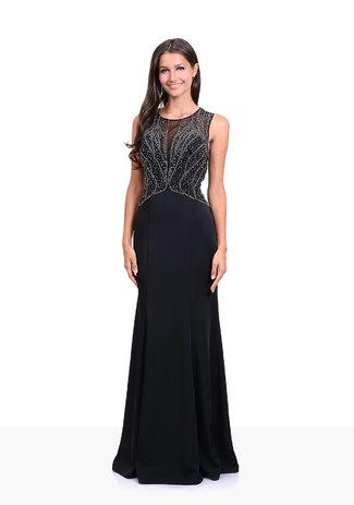 Abendkleid in Phantom Black