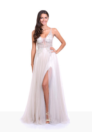 Evening dress in Ivory