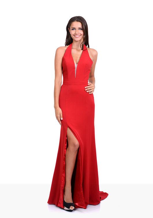 Vestido de noche en Salsa Red