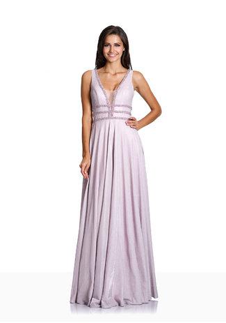 Glitzerabendkleid mit Strassdekor in Glitter Pink