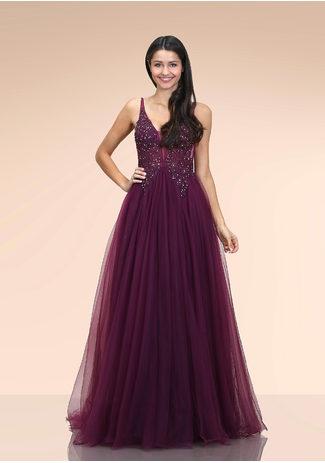 Emitido Tul Vestido de noche en el Royal Purple